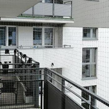siatka na balkon duży w całości