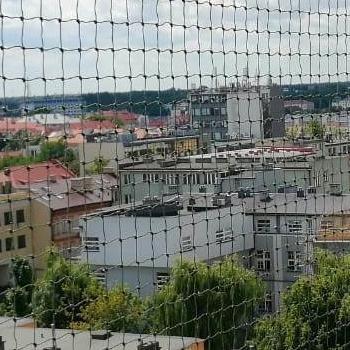 siatka na balkon na wysokim pietrze