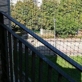 siatka na balkon z widokiem na park
