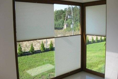 Plisy okienne balkon
