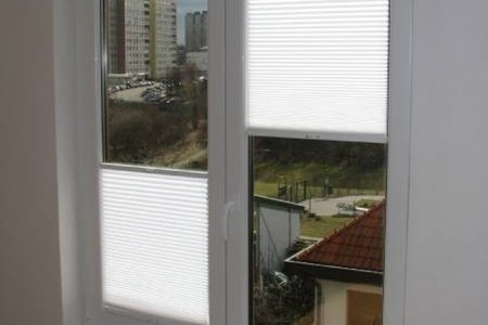 Plisy okienne balkon otwarte