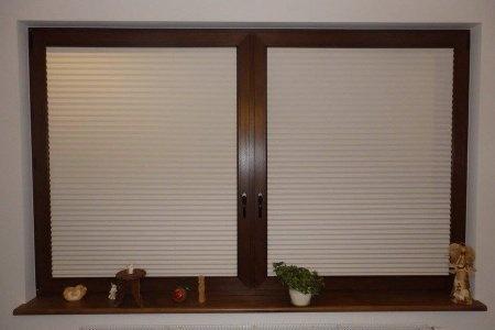Plisy okienne w kuchni